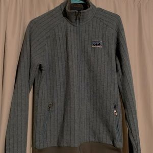 Patagonia Large Quilt Again Sweater Blue Yonder